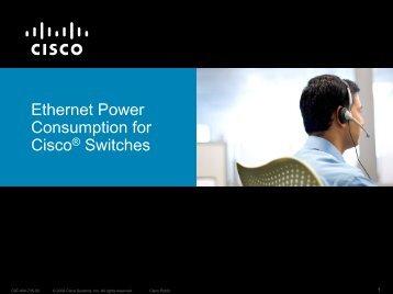 CISCO:BROCHURE - Ethernet Power Consumption for ... - A-TRAC