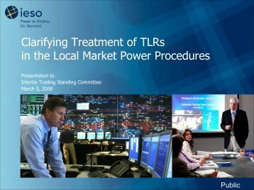 Clarifying Treatment of TLRs in the Local Market Power ... - IESO