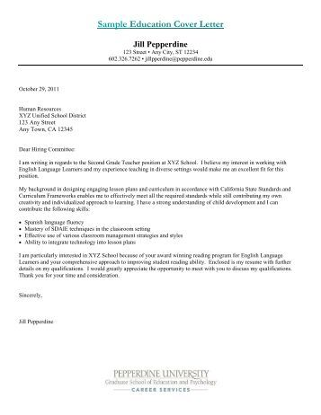 sample psychology intern cover letter pepperdine university