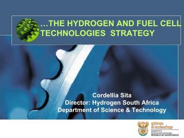 …THE HYDROGEN AND FUEL CELL TECHNOLOGIES STRATEGY