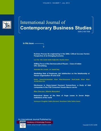 the journal of nepalese business studies View 2088-7284-1-pb from business 432 at harvard university the journal of nepalese business studies volcustomer v no 1 perception towards internet dec 2008 a study on a study on customer.