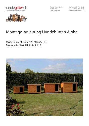 Montage-Anleitung Hundehütten Alpha