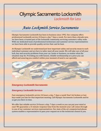 Auto Locksmith Service Sacramento