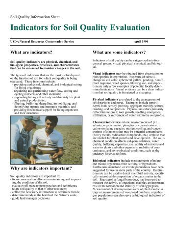 Evaluating the indicative role of soil nematode for Soil quality indicators