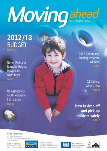 Moving Ahead September 2012 (PDF) - Melton City Council
