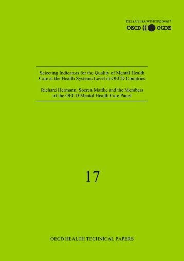 Selecting Indicators for the Quality of Mental Health Care at the ...