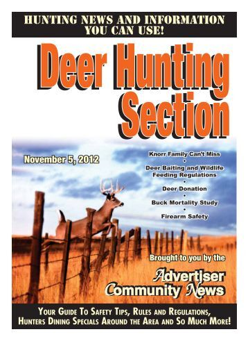 2012 Deer Hunting Section - Advertiser Community News