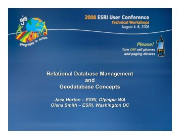 Relational Database Management and Geodatabase Concepts
