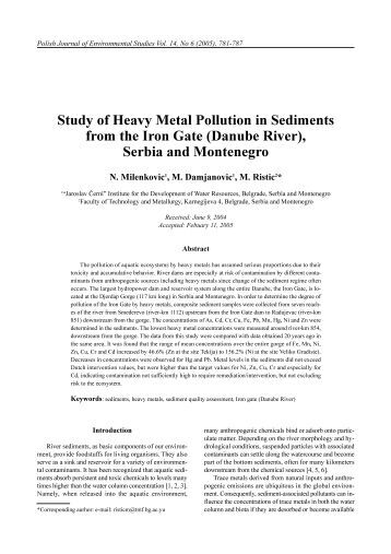 a study of heavy metal pollution Heavy metal pollution in different environmental media in africa: problems and prospects (with case studies from nigeria) by babajide i alo, phd fcsn, fipan, fnes.