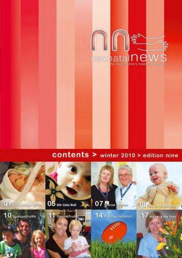 Neonatal Unit Newsletter - Edition 9 - Rchfoundation.com.au