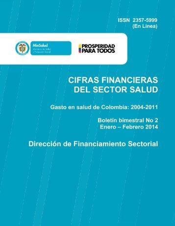 Cifras financieras del Sector Salud - Boletín No 2