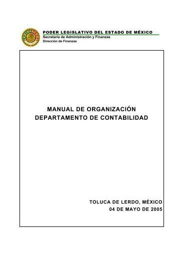 manual de organización departamento de contabilidad - LVIII ...