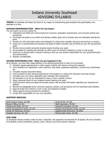Download an Advising Syllabus and Calendar (PDF) - Indiana ...
