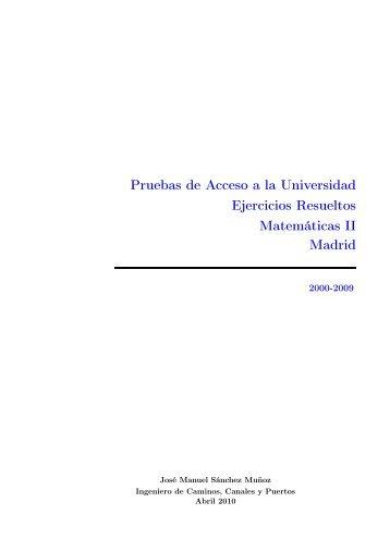 Pruebas de Acceso a la Universidad Ejercicios Resueltos ...
