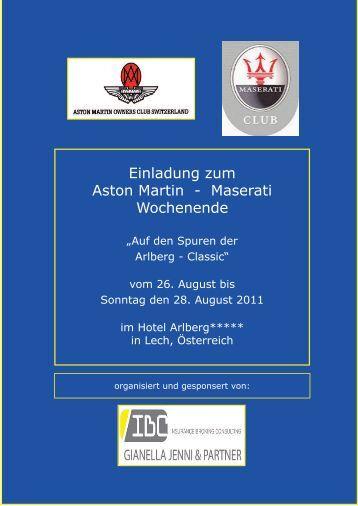 Einladung als PDF - Maserati Club Schweiz