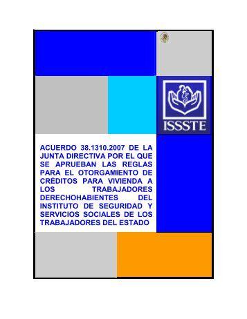 acuerdo 38.1310.2007 de la junta directiva por el que se ... - ISSSTE