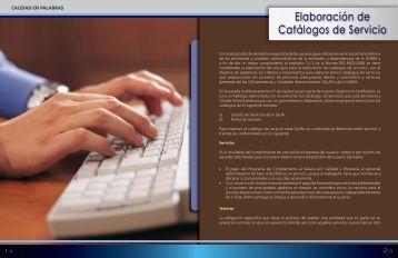 Elaboración de Catálogos de Servicio - Dirección General de ...