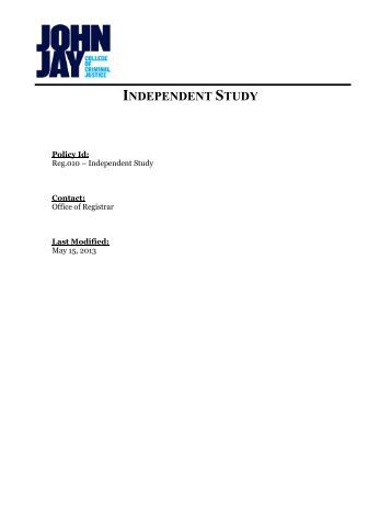 Guidelines for Independent Study - Full