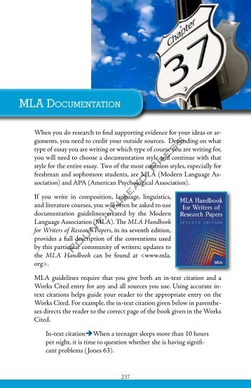 mla documentation research paper