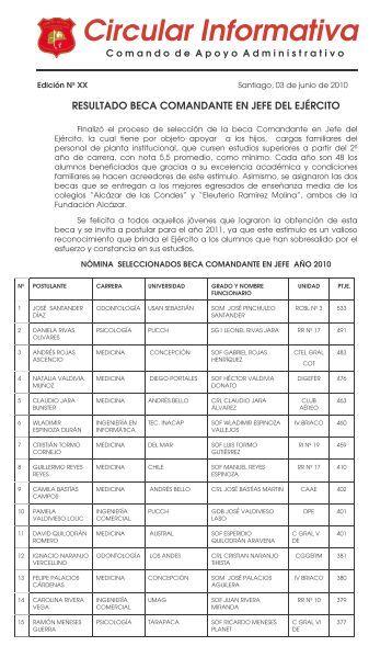 Circular Informativa Beneficiarios Becas 03-06 - Comando de ...