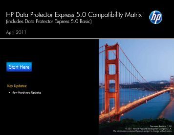 HP Data Protector Express 5.0 Compatibility Matrix - Hewlett Packard