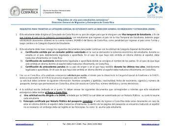 Requisitos de visa para estudiantes extranjeros - Oficina de Asuntos ...