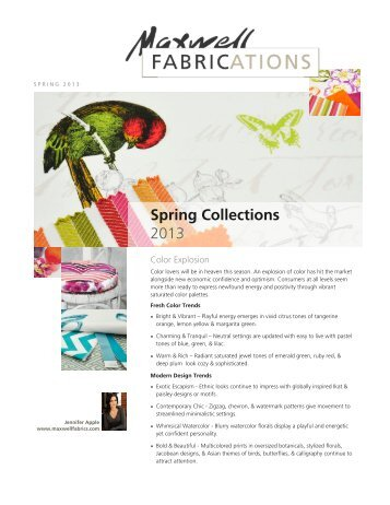 Spring Collections 2013 - Maxwell Fabrics