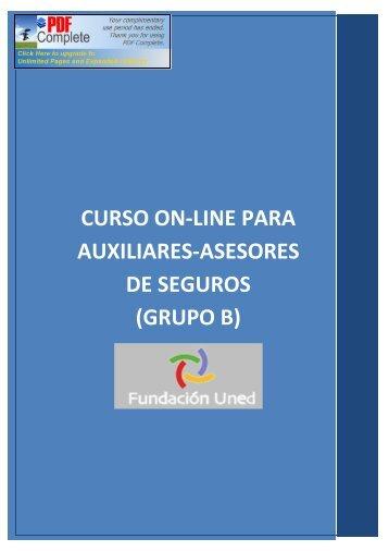 curso on-line para auxiliares-asesores de ... - Fundación UNED