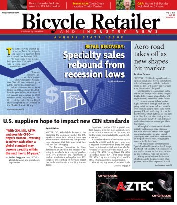 Specialty sales rebound from recession lows -  Bicycle Retailer and ...
