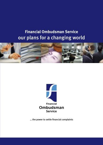 our plans for a changing world - Financial Ombudsman Service