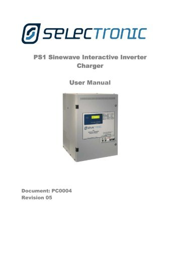 PS1 Sinewave Interactive Inverter Charger User Manual