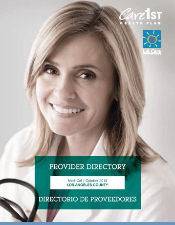 Provider Directory - Los Angeles County - Care1st Health Plan