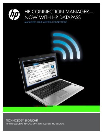 hp connection manager now with hp datapass - Hewlett Packard