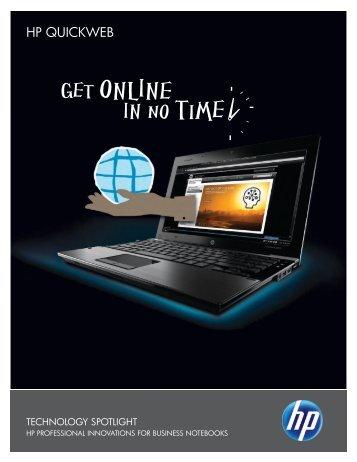 HP QuickWeb Technology Spotlight - Hewlett Packard