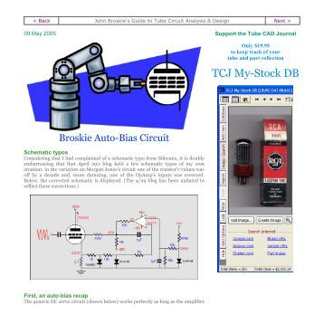 TCJ My-Stock DB - Tube CAD Journal