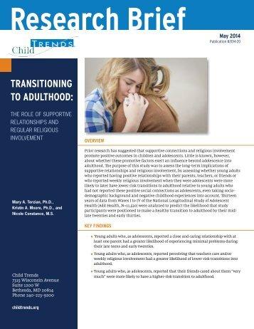 2014-20TransitioningAdulthoodReligiousInvolvement