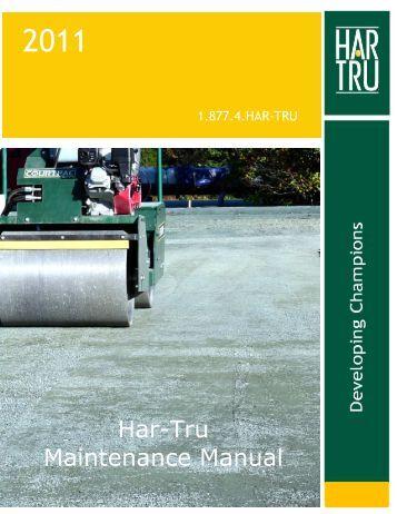 Outdoor Court Maintenance Manual - Har-Tru