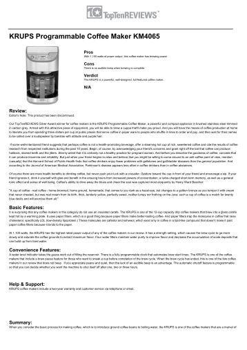 krups coffee maker instruction manual