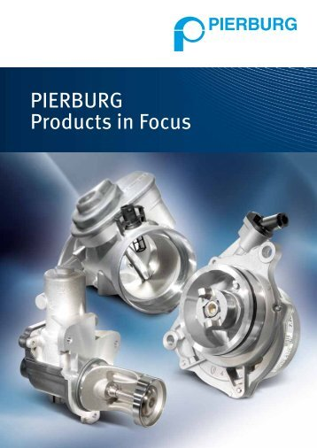 PIERBURG Products in Focus (pdf) - MS Motor Service