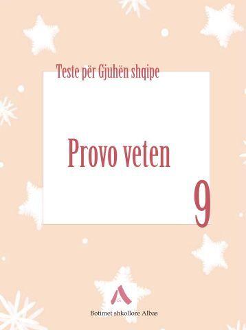 Testet Gjuha Shqipe 9 - Albas