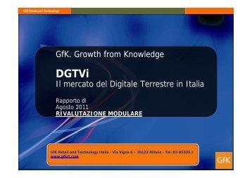 GfK - vendita ricevitori DTT - Agosto 2011 - DGTVi