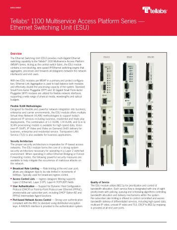 Ethernet Switching Unit (ESU) - Tellabs