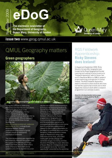 edog - geography - queen mary, university of london