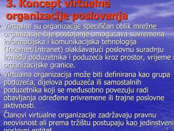 3. Koncept virtualne organizacije poslovanja