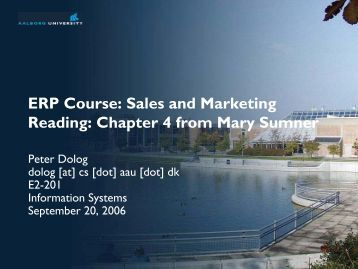ERP Course: Sales and Marketing Reading: Chapter 4 from Mary ...