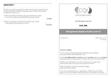 U306 June 2012 Exam Paper