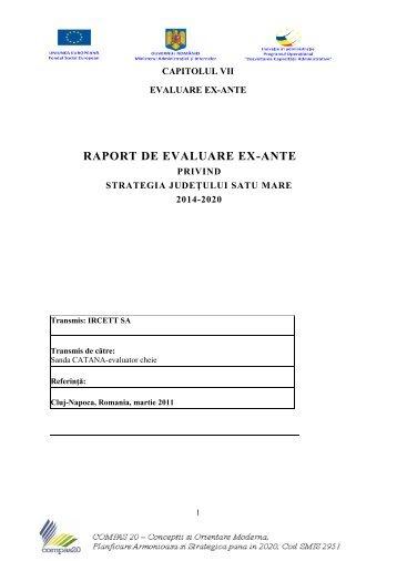 capitolul vii- evaluare ex-ante - Consiliul Judeţean Satu Mare