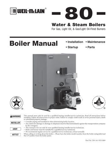 weil mclain boiler how to start