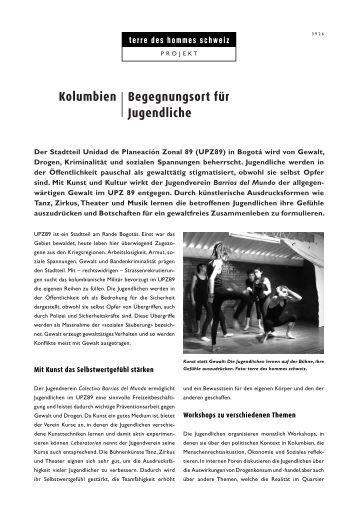 Begegnungsort für Jugendliche - Terre des Hommes Schweiz
