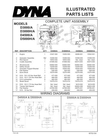 Illustrated parts lists ac and dc generator winco www all asfbconference2016 Images